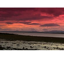 Red Sky of the Forth Photographic Print