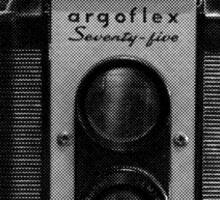 Argus Argoflex Seventy-five - Halftone Sticker