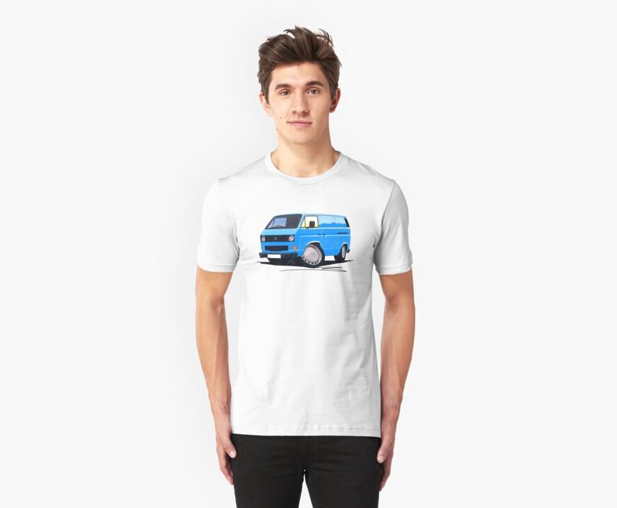 VW T25 Transporter Van Blue by Richard Yeomans