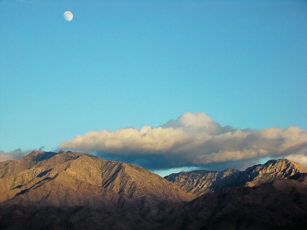 Arizona Desert Moon At 3pm... by Susan Bergstrom