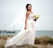 Beach Bride by Carine  Boustany