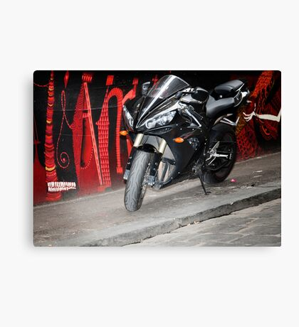 graffiti bike Canvas Print