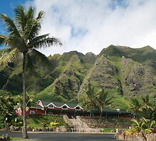 Kualoa Ranch Mountains by Jen Hendricks