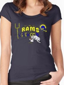 Los Angeles Rams Women's Fitted Scoop T-Shirt