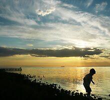 Last Light at Brighton Beach by Roz McQuillan
