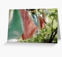 Tibetan Prayer Flags on Poma Shan Greeting Card