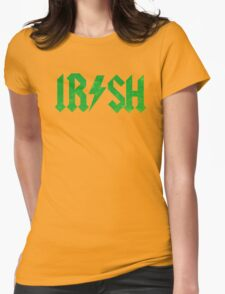 IRISH ACDC STYLE GRUNGE VINTAGE DISTRESSED Womens Fitted T-Shirt