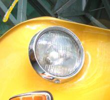 Yellow Type 3 Karmann Ghia Sticker