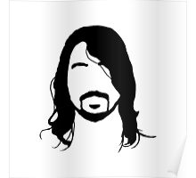 Dave Grohl's Beard Silhouette Poster