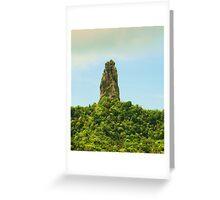 Te Rua Manga, Rarotonga Greeting Card