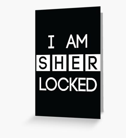Sherlocked Greeting Card