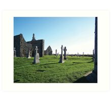 Clonmacnoise - on the Shannon River Art Print
