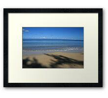 Water & Shadows Framed Print