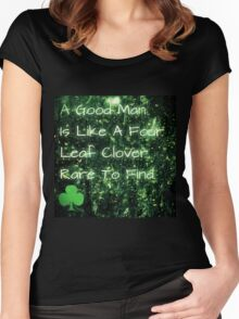 four leaf clover man Women's Fitted Scoop T-Shirt
