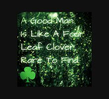 four leaf clover man Womens Fitted T-Shirt