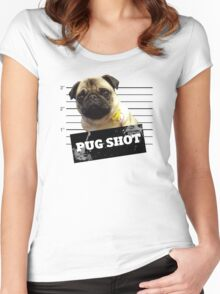 Pug Shot Women's Fitted Scoop T-Shirt
