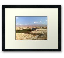 Jordan river in front of Moav mountains. Framed Print