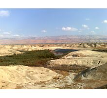 Jordan river in front of Moav mountains. Photographic Print