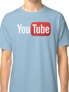 YouTube Full Logo - Red on Black Classic T-Shirt