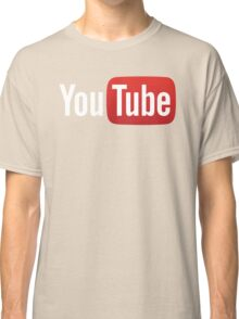 YouTube Full Logo - Red on Black Classic T-Shirt