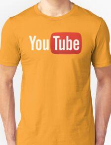 YouTube Full Logo - Red on Black T-Shirt