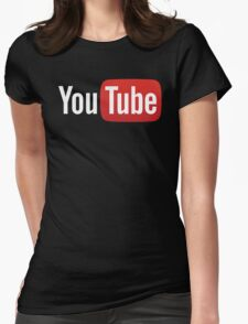 YouTube Full Logo - Red on Black Womens Fitted T-Shirt
