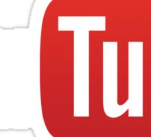 YouTube Full Logo - Red on Black Sticker