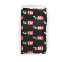 YouTube Full Logo - Red on Black Duvet Cover