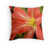 It's a rainy day lily Throw Pillow