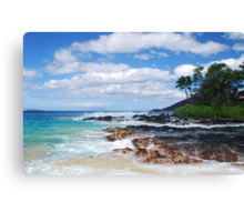 Pa'ako Beach, Makena ~Morning light Canvas Print