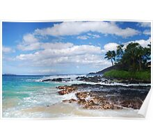 Pa'ako Beach, Makena ~Morning light Poster