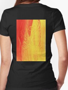 Dancing Flame Womens Fitted T-Shirt