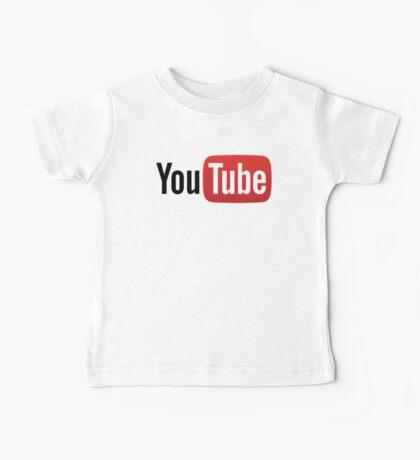 YouTube Full Logo - Red on White Baby Tee