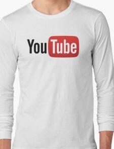 YouTube Full Logo - Red on White T-Shirt