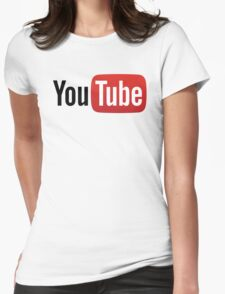 YouTube Full Logo - Red on White Womens Fitted T-Shirt