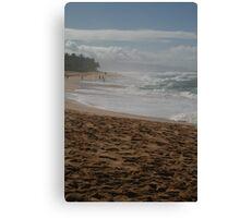 North Shore Waves Canvas Print