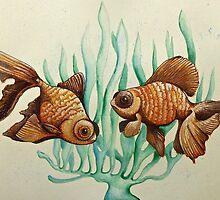 gold fish & seaweed   by melaniedann