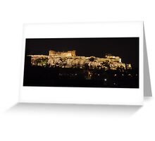 Night view of the Acropolis Greeting Card