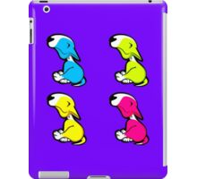 Innocent English Bull Terrier Puppy Block Pattern  iPad Case/Skin