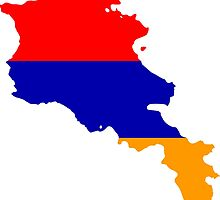 Flag Map of Armenia by abbeyz71