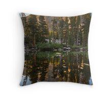 Basin Mountain Reflection Throw Pillow