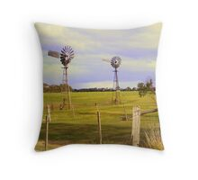 Who is going to work first ? Throw Pillow