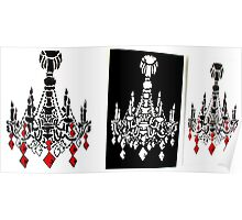chandelier tryptich Poster