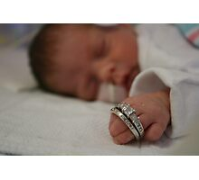 Mommy's Rings Photographic Print