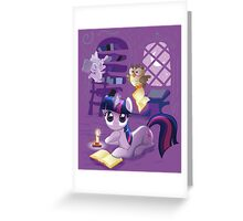 Twilight Sparkle - Bookworm Pony Greeting Card