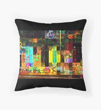 2015 HALFTIME entertainment, SUPERBOWL art, BEACH, multicolored  Throw Pillow