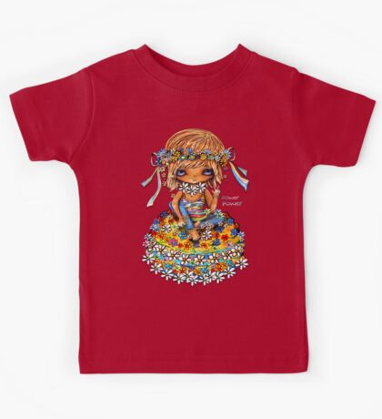 Flower Power TShirt Kids Clothes
