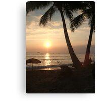 Sunset in Waikiki Canvas Print