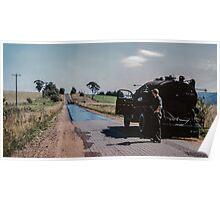 Bitumen sprayer for sealing Eltham Kangaroo Gnd Rd 19540000 0009 Poster