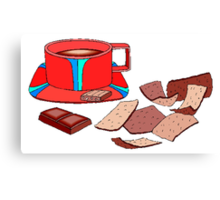 Chocolate And Biscuits Canvas Print
